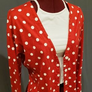 Minnie mouse red polka dot cardigan